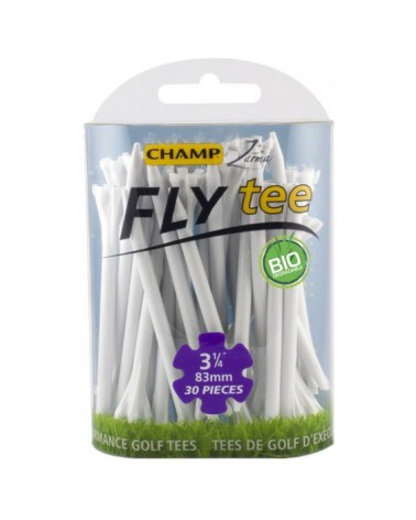 CHAMP FLY TEES 3 1/4 INCH WHITE 25