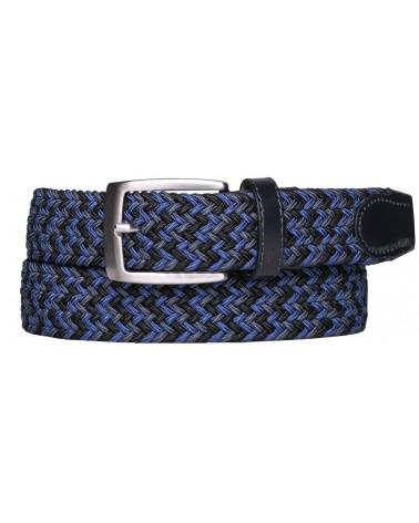 ALBERTO GOLF BELT GURTEL - Multicolor Braided DARK BLUE