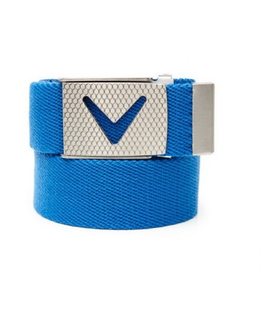 CALLAWAY WEBBED CHEV BELT MAGNETIC BLUE