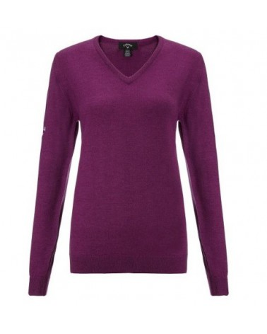 CALLAWAY L/S LOW V NECK SWEATER WILD ASTER