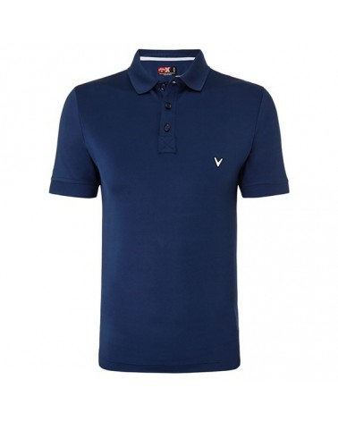 CALLAWAY RUGBY INSPIRED PIECED CLR BLOCKED POLO INSIGNIA BLUE