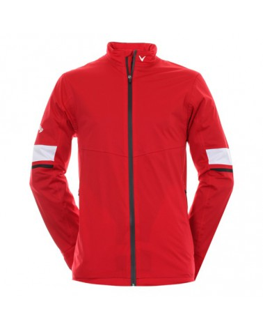 CALLAWAY UK GG WATERPROOF FULL-ZIPPED JKT TANGO RED