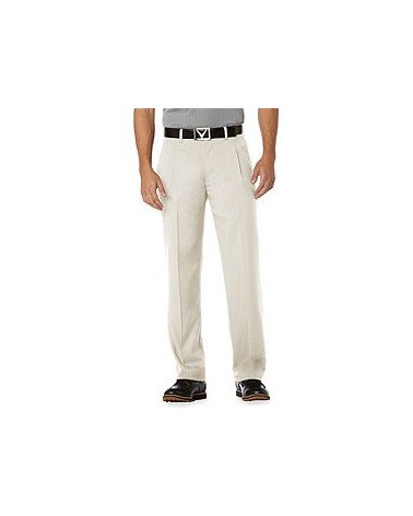 CALLAWAY CHEV FLAT FRONT PANT SILVER LINING