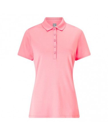 CALLAWAY S/S CORE ESSENTIAL POLO W/ KNIT COLLAR GERANIUM PINK