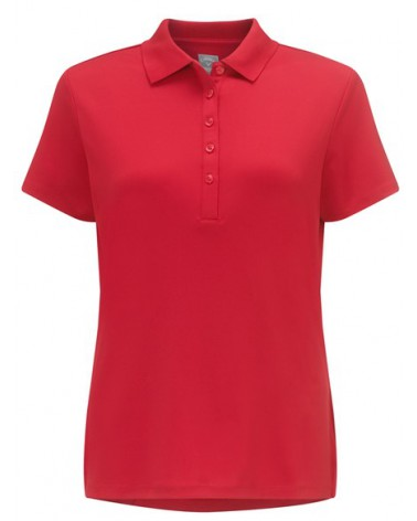 S/S CORE ESSENTIAL POLO W/ KNIT COLLAR (TANGO RED)
