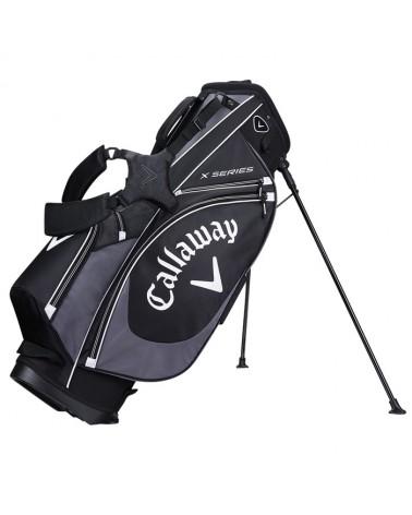 CALLAWAY X SERIES STAND BAG BLACK/CHARCOAL/WHITE
