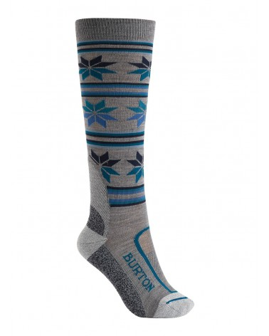 BURTON WOMENS ULTRALIGHT WOOL SOCK MONUMENT HEATHER