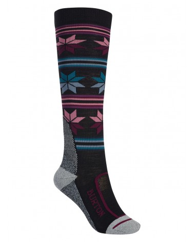 BURTON WOMENS ULTRALIGHT WOOL SOCK TRUE BLACK