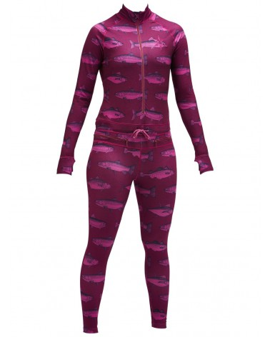AIRBLASTER WMS HOODLESS NINJA SUIT-BERRY FISH