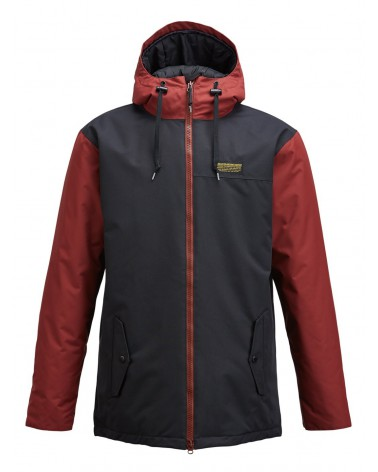 AIRBLASTER TOASTER JACKET-BLACK OXBLOOD /M