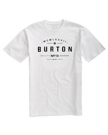 BURTON NUMERAL SS STOUT WHITE
