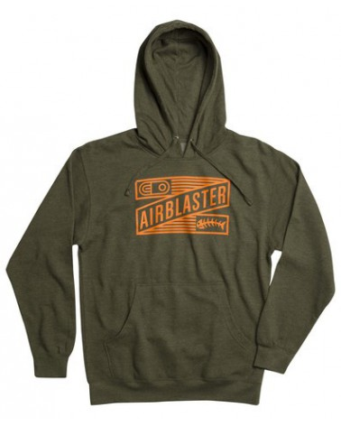 AIRBLASTER STALEFISH PULLOVER ARMY HEATHER