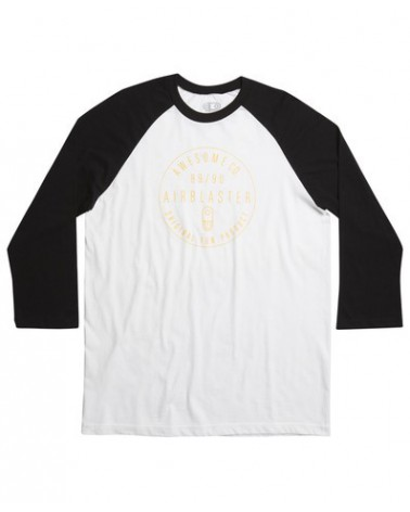 AIRBLASTER AWESOME CO RAGLAN WHITE / BLACK