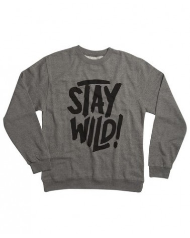 AIRBLASTER STAY WILD CREW GUNMETAL HEATHER