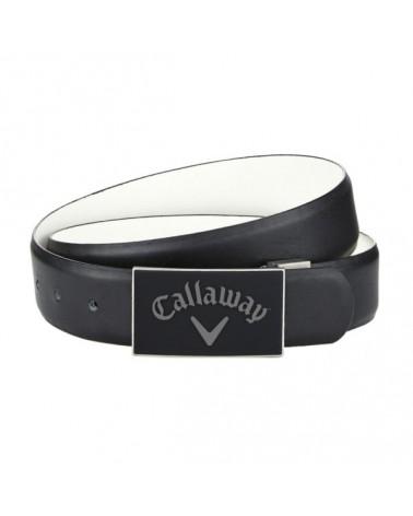 CALLAWAY REVERSIBLE BELT CAVIAR/WHITE