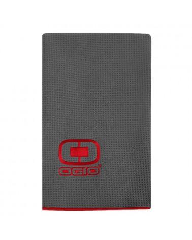 OGIO GOLF TOWEL GRAY/RED