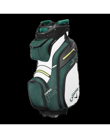 CALLAWAY BAG CART ORG 14 WHITE/H GREEN/NEON YELLOW