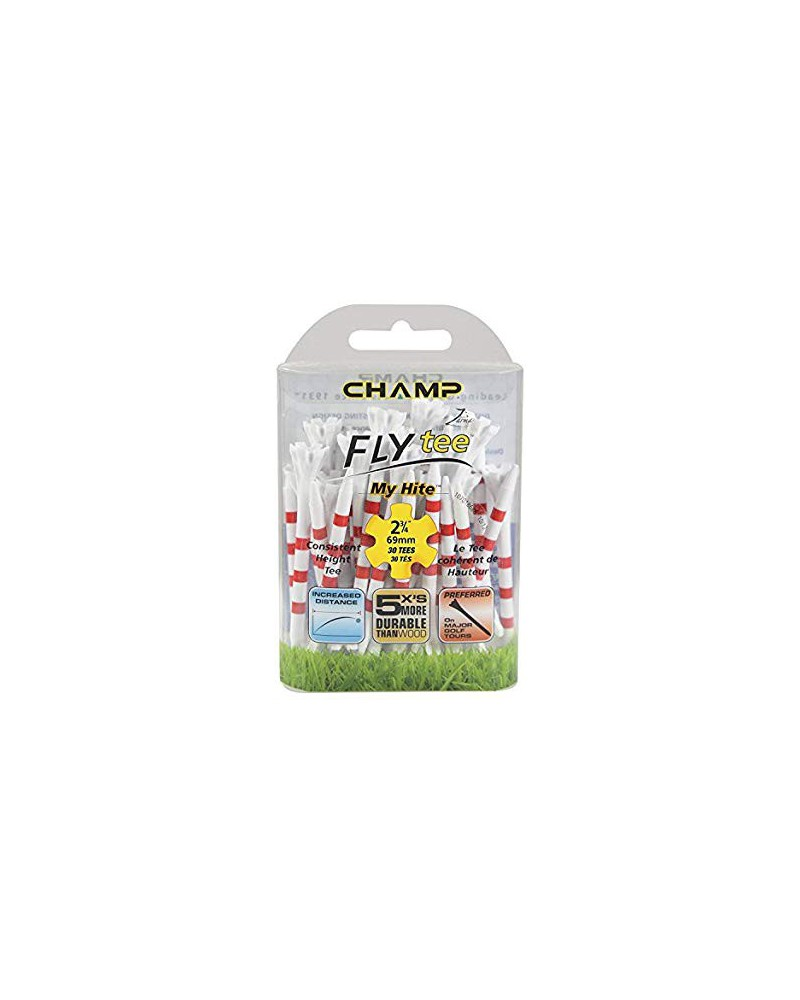 CHAMP FLY TEES 2 3/4 INCH RED 30