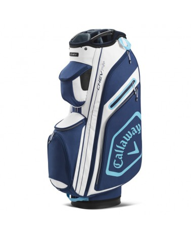 CALLAWAY BAG CART CHEV 14+ WHITE/NAVY 20