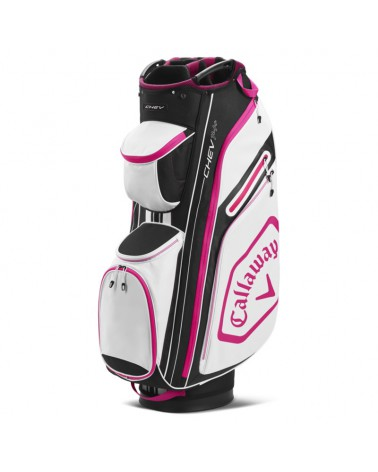 CALLAWAY BAG CART CHEV 14+ BLACK/PINK 20
