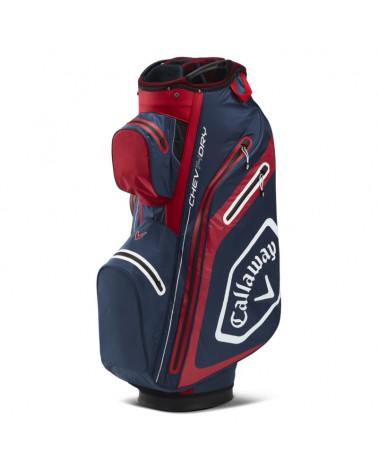 CALLAWAY BAG CART CHEV DRY 14 NAVY/RED 20
