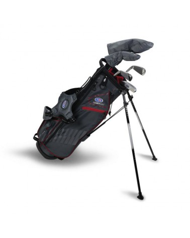 US KIDS UL39-s 3 CLUB CARRY SET GREY/RED