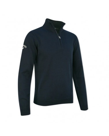 CALLAWAY UK BOY L/S 1/4 ZIP M DRESS BLUES