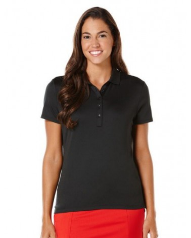 CALLAWAY S/S CORE ESSENTIAL POLO W/ KNIT BRIGHT CAVIAR