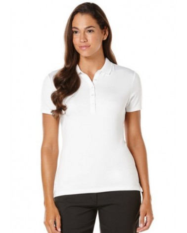 CALLAWAY S/S CORE ESSENTIAL POLO W/ KNIT BRIGHT WHITE