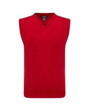 CALLAWAY V-NECK SWEATER VEST TANGO RED