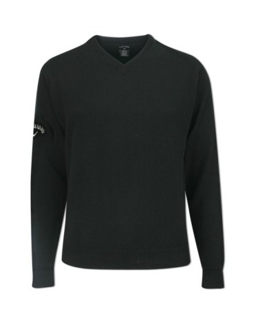 CALLAWAY LAMBSWOOL V NECK SWEATER ANTHRACITE