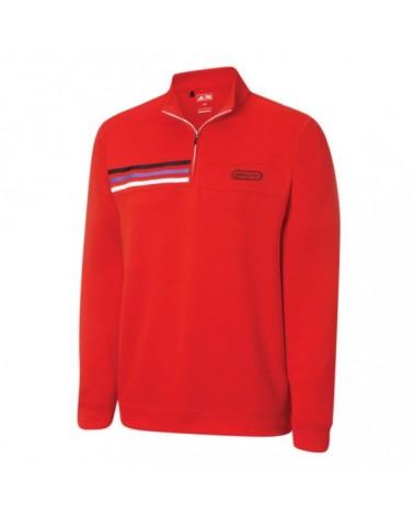 Adidas M CL Performance Half-Zip Red