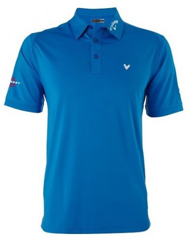 CALLAWAY CHEV STRETCH VENTILATED POLO MAGNETIC BLUE