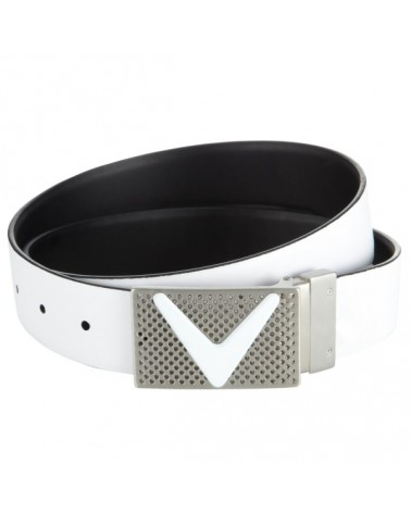 CALLAWAY REVERSIBLE BELT WITH RECTAGLE BUCKLE BRIGHT WHITE