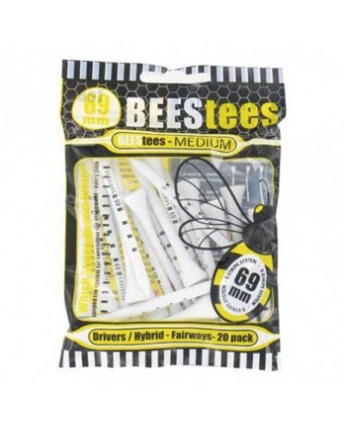BEES TEES 69MM WOOD SMALL PACK