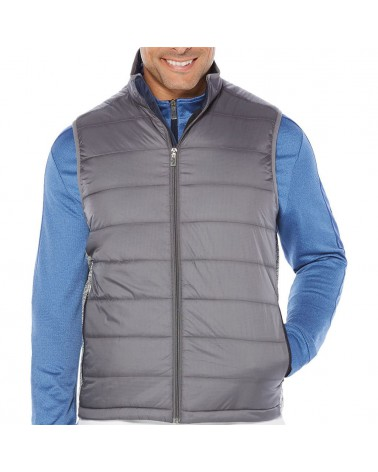 CALLAWAY UK FIBER-FILL FLEECE VEST MEDIUM GREY HEATHER