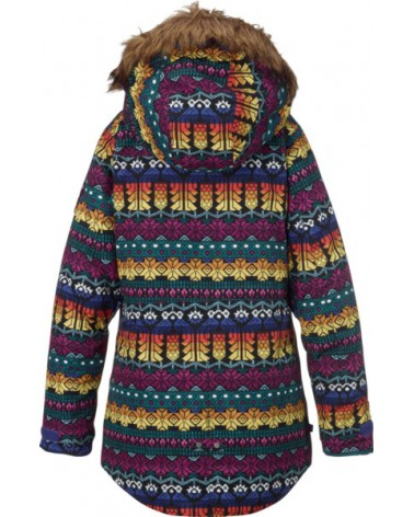 BURTON GIRLS AUBREY PRK JACKET FIGARO STRIPE