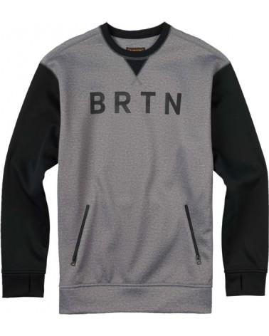 BURTON BONDED CREW MONUMENT HTH/T BLACK