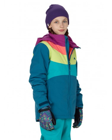 BURTON GIRLS HART JACKET JADED/GRAPSD/GRGPCH
