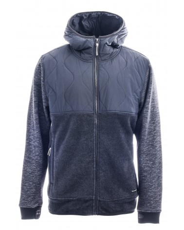 HOLDEN MENS SHERPA HYBRID ZIP UP BLACK