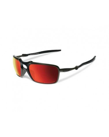 OAKLEY BADMAN Dark carbon/ruby iridium polarized