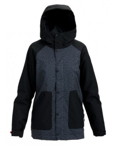 BURTON WMS EASTFALL JACKET TRUE BLACK TWILL/TRUE BLACK