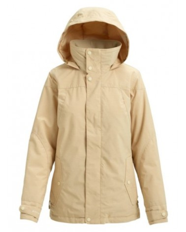 BURTON WMS JET SET JACKET PEBBLE HEATHER