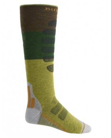 BURTON Performance Plus Midweight Snowboard Sock MOSSTONE BLOCK