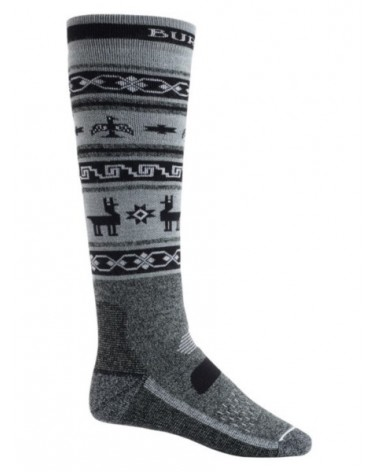 BURTON  PERFORMANCE MIDWEIGHT SOCK TRUE BLACK HEATHER