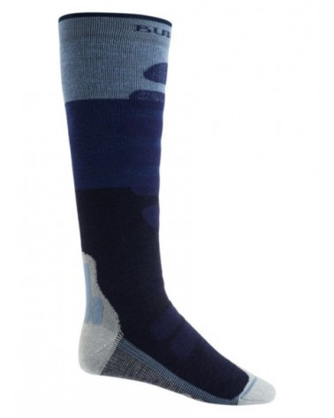 BURTON Performance Plus Midweight Snowboard Sock MOOD INDIGO BLOCK
