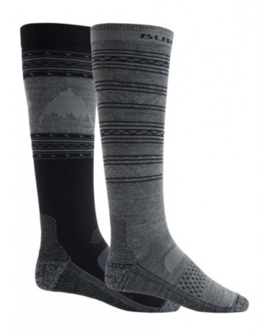 BURTON  PERFORMANCE LIGHTWEIGHT SOCK 2PK TRUE BLACK