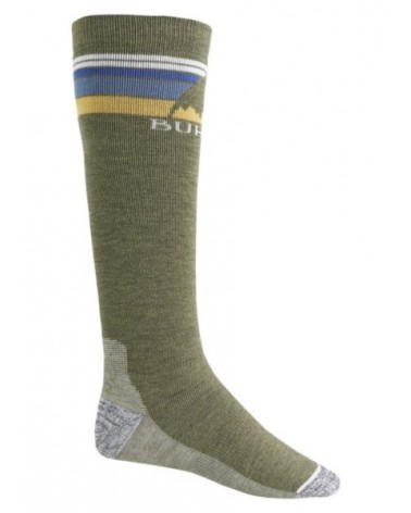 BURTON EMBLEM MIDWEIGHT SOCK OLIVE HEATHER
