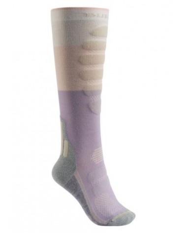 BURTON WMS Performance Plus Lightweight Snowboard Sock CANVAS BLOCK