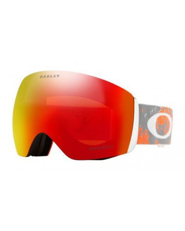 OAKLEY Flight Deck Prizm Snow Torch Iridium Sharkskin Orange Strap